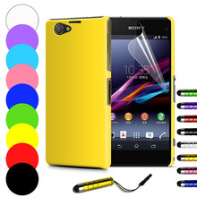 Slim Hard Back Case for Sony Xperia Z1 Compact Z1 mini M51W Z3 Compact Z3 Mini Cover Skin with free screen protetcor(China (Mainland))