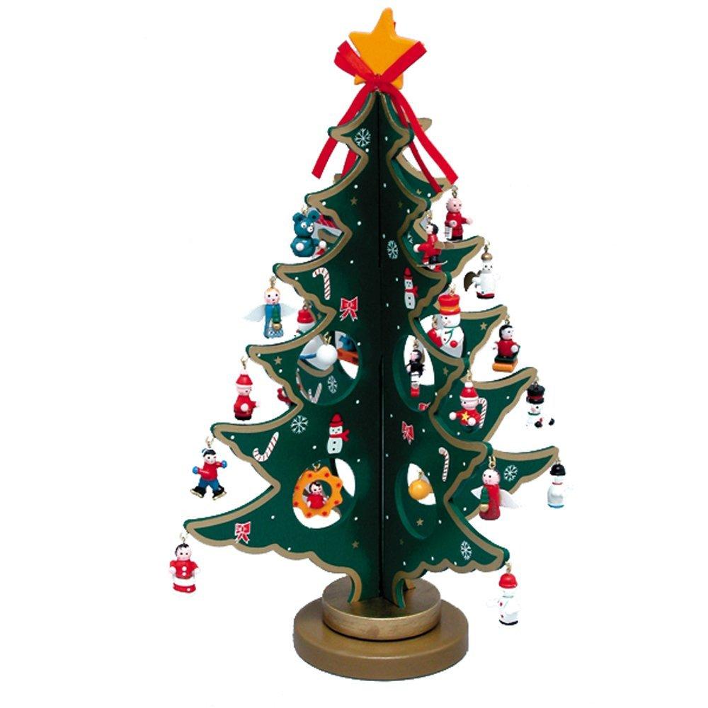 Party-deko holzplatte weihnachtsbaum mit santa, schneemann ...