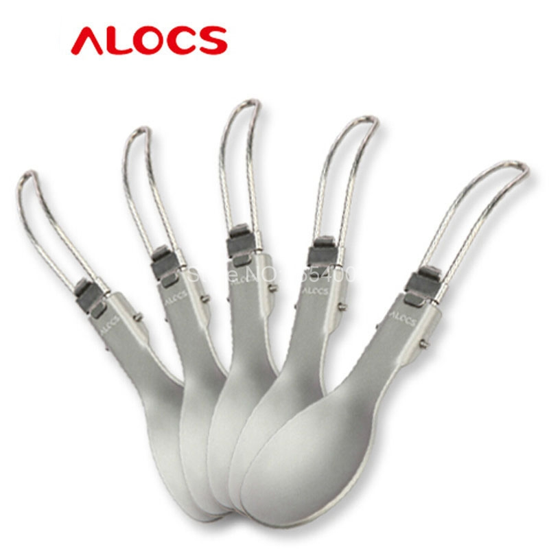Alocs Folding Multi-function Camping Cutlery Folding Fork Spoon Camping Utensils Sporks TW-103/TW-104(China (Mainland))