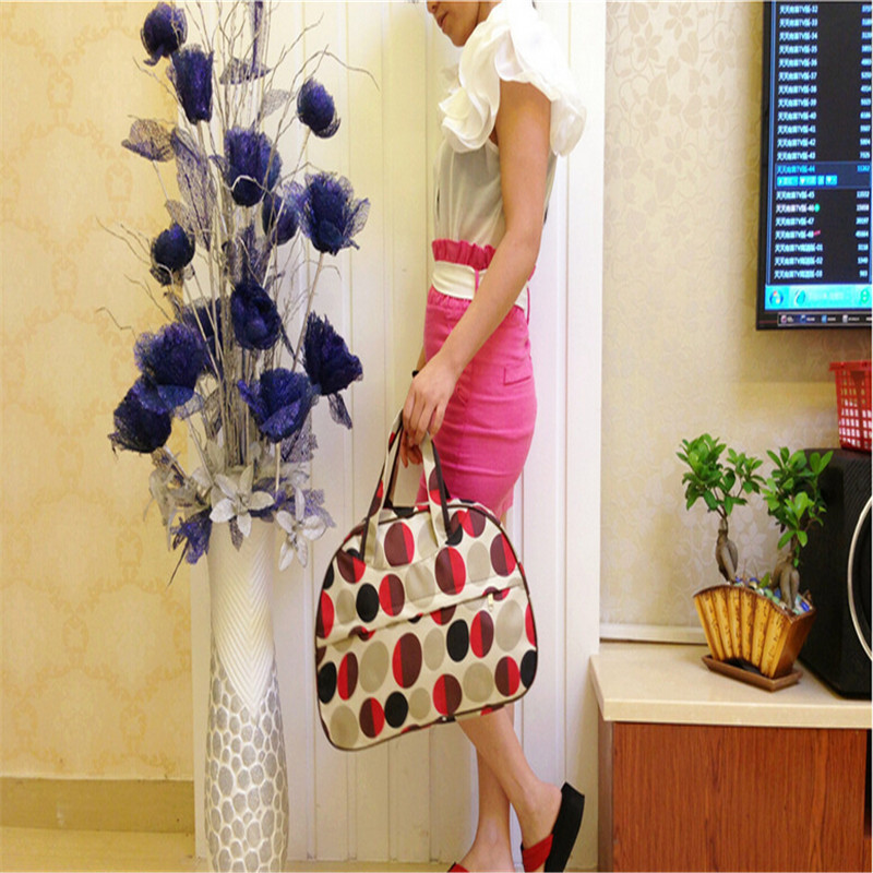 2015 New Fashion Waterproof Oxford Women bag Colorful Travel Bag Large Hand Canvas Luggage Bags G094-C(China (Mainland))