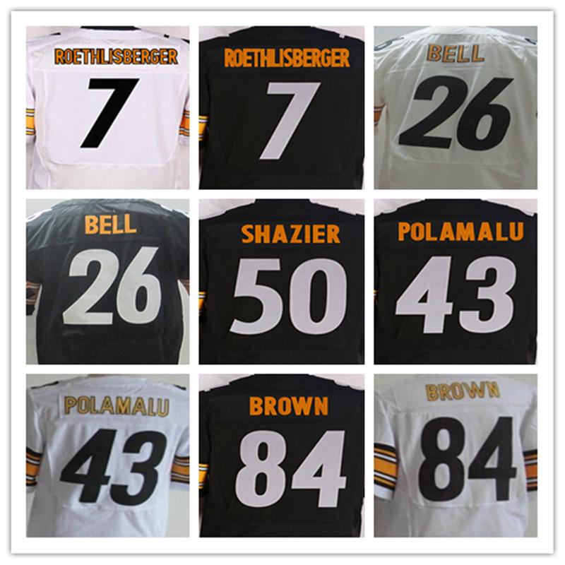 7 Ben Roethlisberger 12 Terry Bradshaw 26 Le'Veon Bell 36 Jerome Bettis 43 Troy Polamalu 50 Ryan Shazier 84 Antonio Brown(China (Mainland))