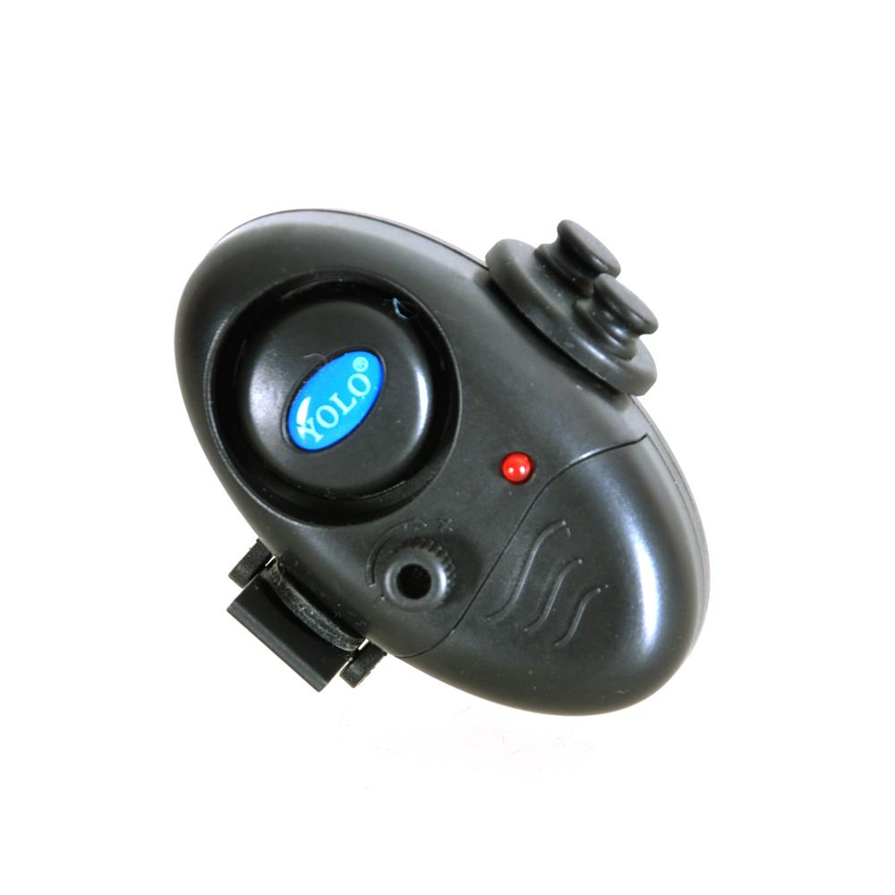 1pc Black Outdoor Electronic Fish Bite Alarm Finder Sound Alert Running LED Clip On Fishing Rod Vara De Pesca Fishing Tackle(China (Mainland))