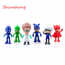 New Arrival 7.5-9.5cm Pj Characters Catboy Owlette Gekko Cloak Masks Action Figure Toys Boy Birthday Gift Plastic Dolls(China (Mainland))