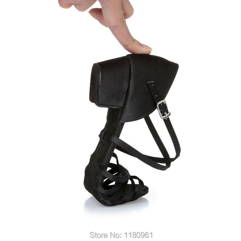 Kids' Dance Shoes Latin dance shoes Party shoes Kids' Sneakers  Heel 3.5cm Black satin Factory direct sale L46