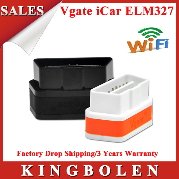 100% Original Vgate WiFi iCar 2 OBDII ELM327 iCar2 WiFi Vgate OBD Diagnostic Scanner For iOS/Android PC 2 Years Warranty(China (Mainland))