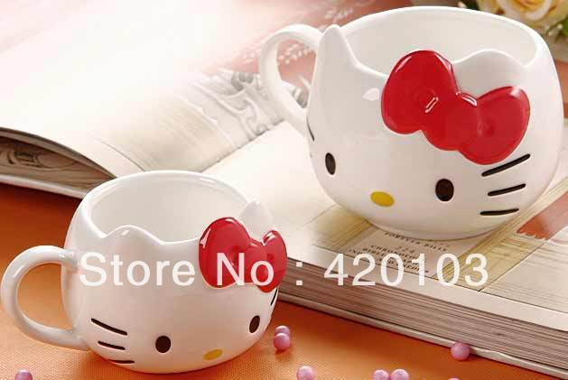 2013 new coming Fashion Hello Kitty Ceramic Coffee Mug Cup Lovely Color cute hellokitty #1506