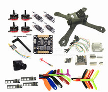 DIY FPV mini drone QAV-X 5″ 3/4 quadcopter frame kit EMAX RS2205 + littlebee BL20A ESC 2-4S + SP F3 built-in OSD + mini camera