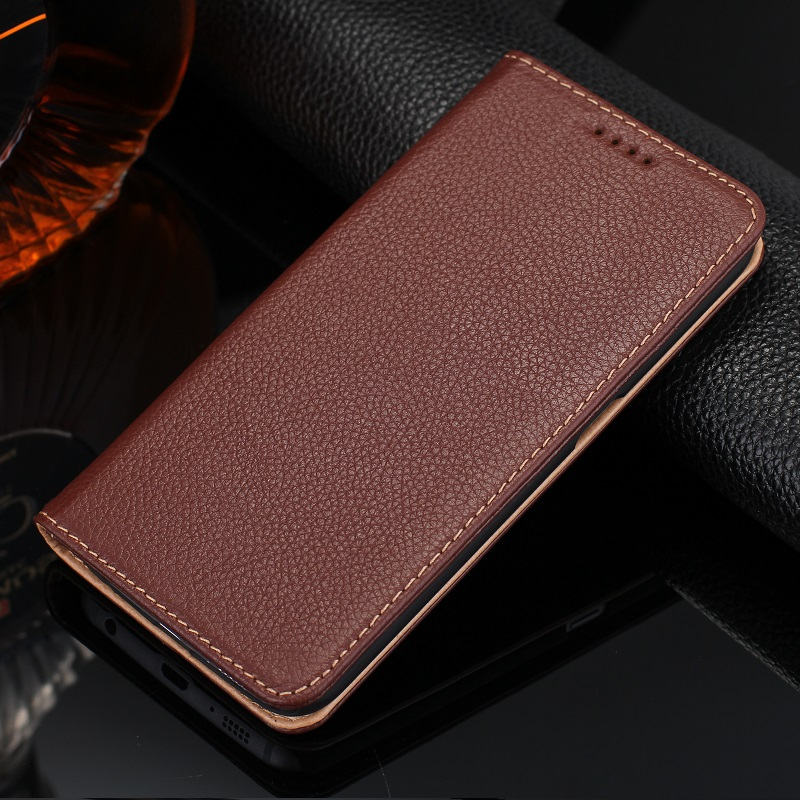 Real Genuine Leather Case Samsung Galaxy S6 Edge S 6 Note 5 Note5 Cell Phone Magnet Card Holder Flip Cover Stand - New Surprise Store store
