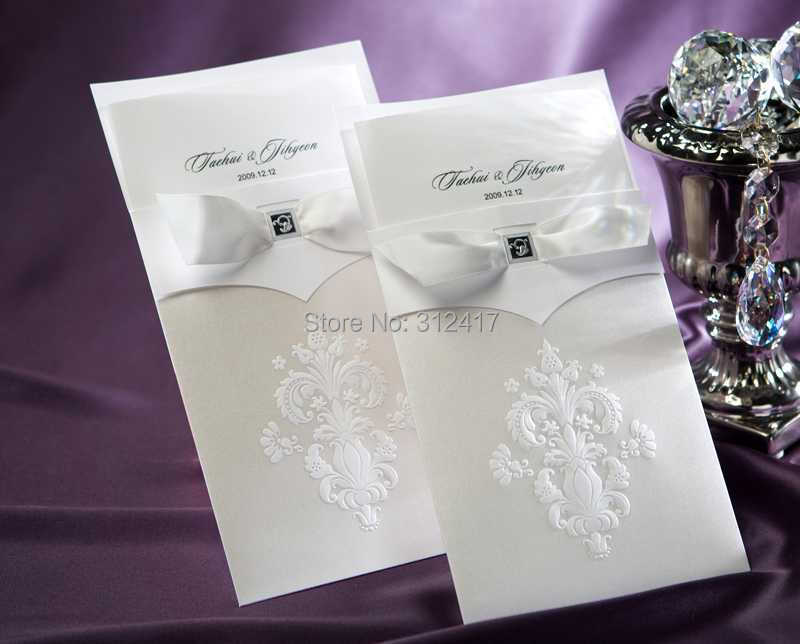 Aliexpresscom buy high quality classic white wedding for Buy wedding invitations in store
