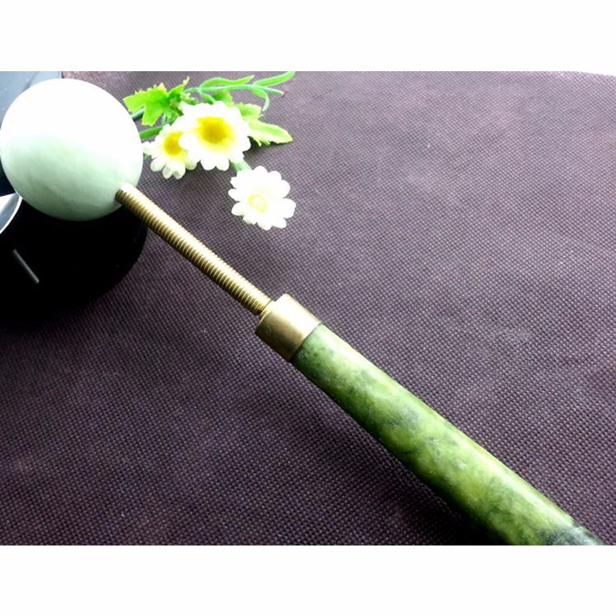 1pcs Natural Jade Stone Body Massager Massage Ball Slimming Relaxation Health Care Tool Knock Hammer back Foot Neck massager New