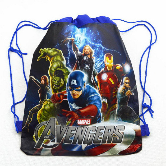 Cartoon Kids Drawstring Bags Backpacks Doc Mcstuffins Avengers Boys Children School Bag Mochila Infantil TMNT Girl