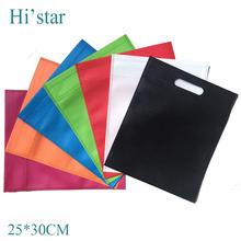 25*30cm 20 pieces/lot Custom non woven shopping bag/ logo print non-woven fabric bag fot one side eco handbag - Hi'star store