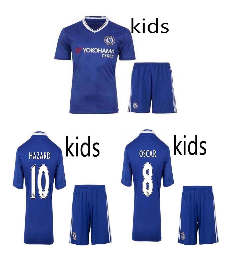 2016 2017 for new High-quality Thailand children shirts soccer jerseys 16 17 football kids kit shirt free ship(China (Mainland))
