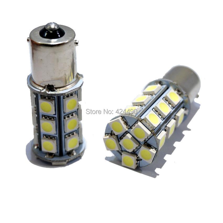 10pcs 1156 BA15S P21W 24 SMD 5050 LED Red White yellow Car Tail Led Bulb Light Brake Lights Fog Lamp Turn Signals light(China (Mainland))