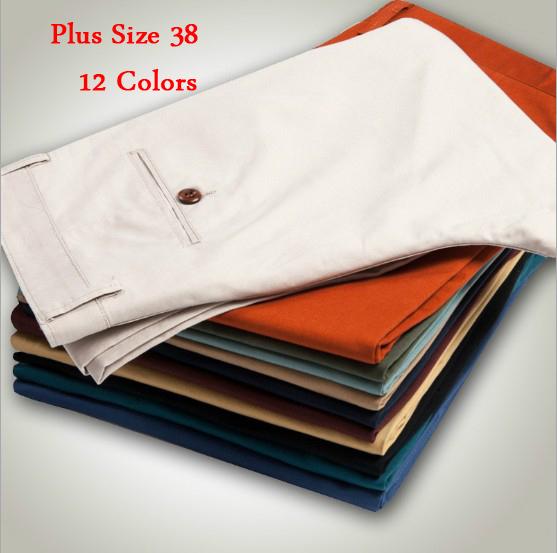 12 Colors New 2015 Men Pants Cotton Casual Men Pants Slim Straight Multicolor Plus Size 38 Jogging Pants Men Free ShippingОдежда и ак�е��уары<br><br><br>Aliexpress