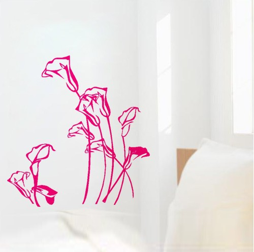 (Various Colors) Lily Flower Decor Mural Art Wall Sticker Decal WY1154 - ET Plaza store