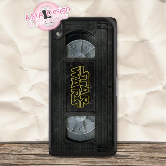 Vintage Star Wars Film Tape Hard Protective Case For Sony Xperia Z4 Z3 Z2 Z1 Z E4 T3 T2 SP M4 M2 C3 C Global Shipping(China (Mainland))