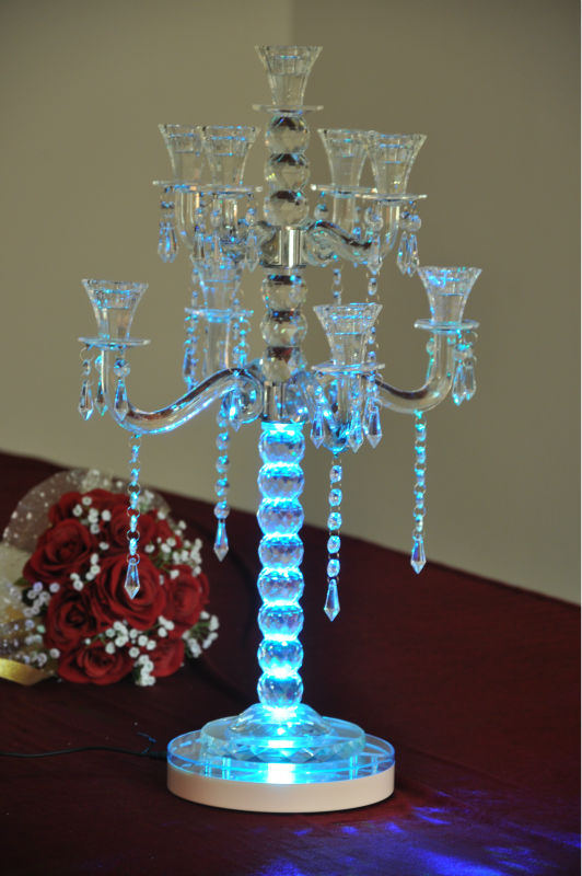 "FREE SHIPPING led centerpiece Super Bright LED Light Stand 8"" Diameter x 1.375"" Height, Multi-Color with Remote Control(China (Mainland))"