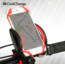Coolchange ABS Material Bike Bicycle Mobile Phone Holder 360-degree Rubber Band Dual Safety Bicycle Accessories