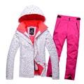 2016 women s ski suit set female skiing jacket outdoor winter sportswear snowboard skiing set water
