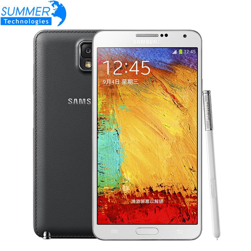 Original Unlocked Samsung Galaxy Note 3 N900 N9005 Cell Phones Android Quad Core 3GB RAM 16GB ROM Refurbished Mobile Phone(China (Mainland))