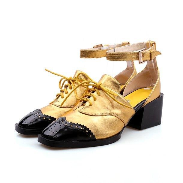 2015 новая мода марка красное золото Натуральная Кожа круглый носок смешанные цвета ...