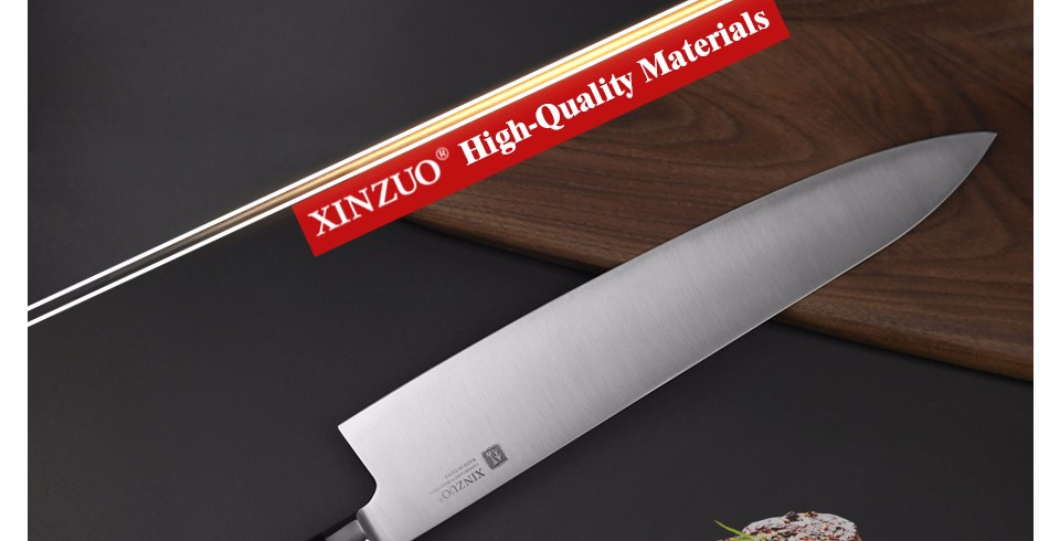 Buy XINZUO 12 inch butcher knife 3-layer 440C clad steel chef knife kitchen knives  G10 handle Japanese cleaver knife free shipping cheap