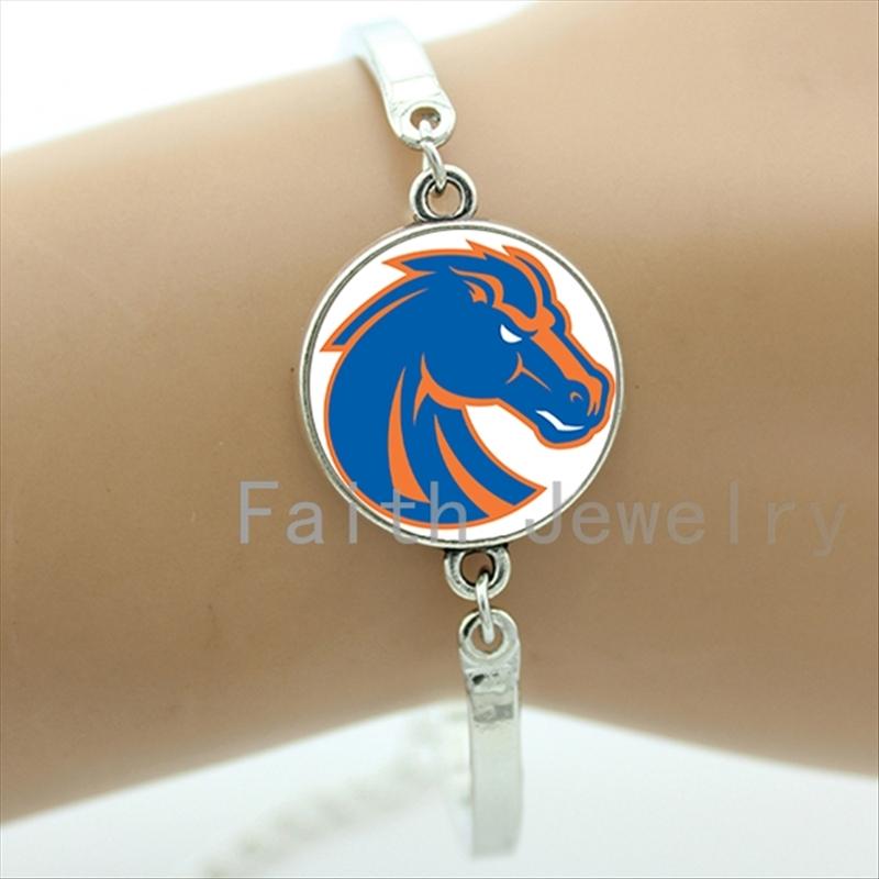 New fashion sports Team logo bracelet case for Denver Broncos team Newest mix 32 NFL team bracelets men boys jewelry NF003(China (Mainland))