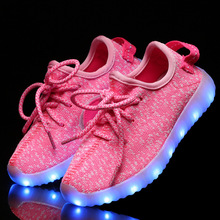 New fashion light up kids led shoes luminous girl boys shoes color glowing casual with simulation sole charge for Childrens(China (Mainland))