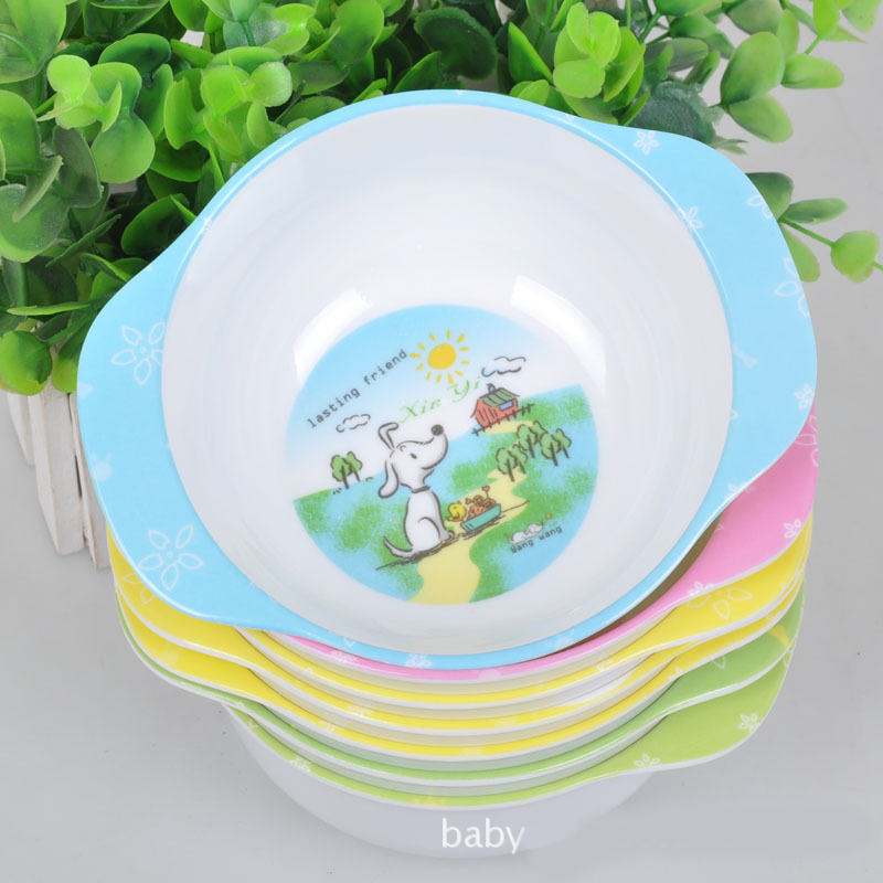 20 pcs / lot Wholesale Safe Melamine Baby Feeding Bowl Children Use Solid Feeding Dishes Resistance Fell Bowl