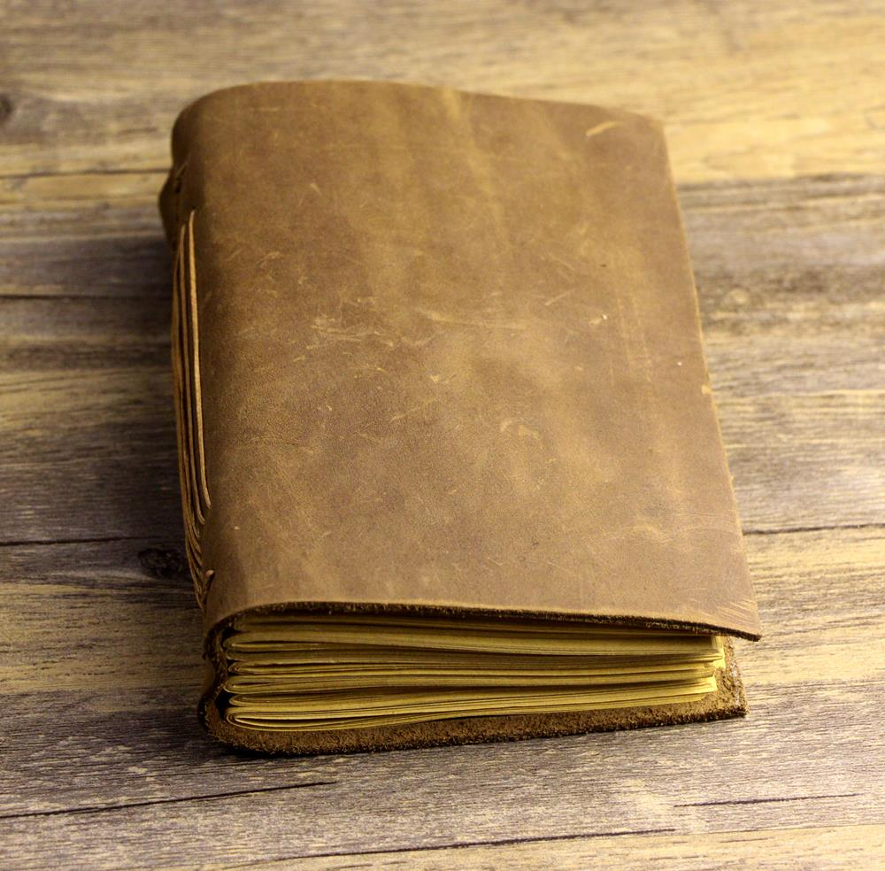handmade thickness genuine leather Journals notebook vintage gift D0526<br><br>Aliexpress