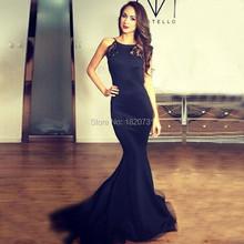 Buy Sexy Formal Evening Gown Open Back Scoop Lace Pleat Vestido de festa Prom Mermaid Dress Court Train Custom Made 2017 New for $111.30 in AliExpress store
