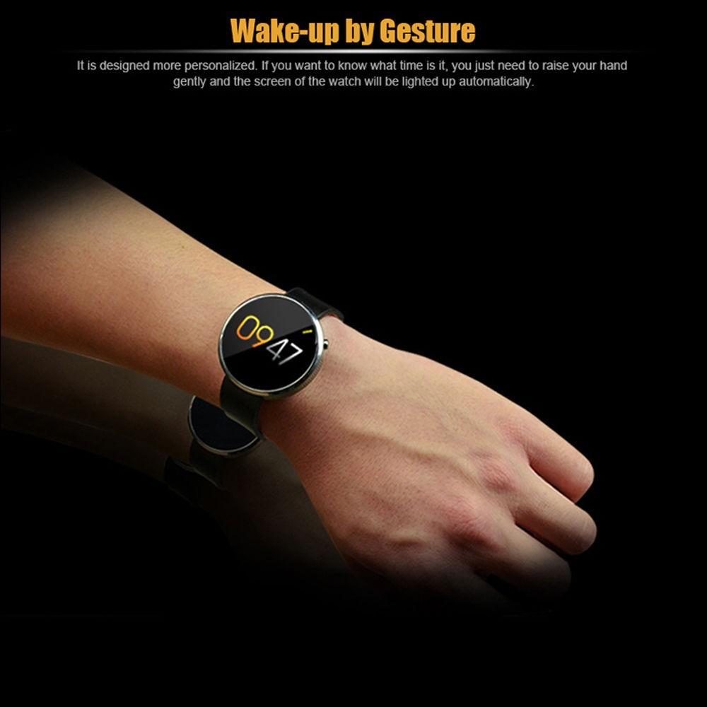 ถูก 2016ใหม่บลูทูธIOS/Androidสมาร์ทนาฬิกานาฬิกาข้อมือกันน้ำDM360อัตราการเต้นหัวใจการตรวจสอบติดตามการออกกำลังกายPassometer