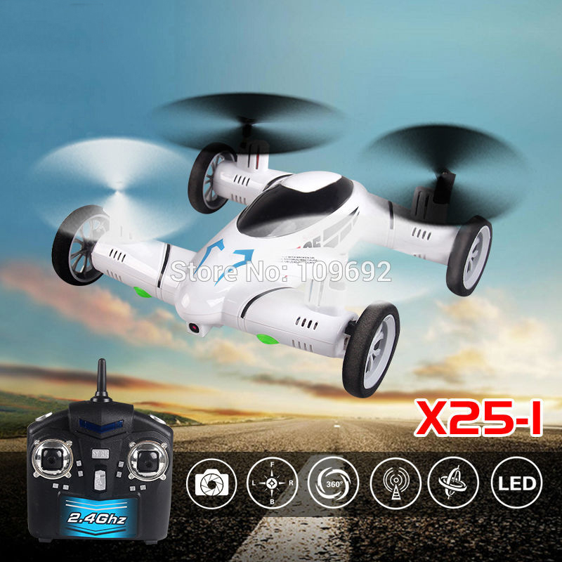 KAINISI X25-1 SY X25 Flying Car 2.4G RC Quadcopter Updated Version Drone 6-Axis 4CH Can Add 2MP HD Camera Helicopter(China (Mainland))