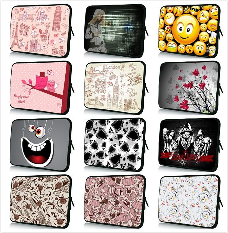 New 10.1 10.2 10.6 Inch laptop bag Tablet computer bag 10-inch neoprene sleeve Netbook Case Free Shipping 1#(China (Mainland))