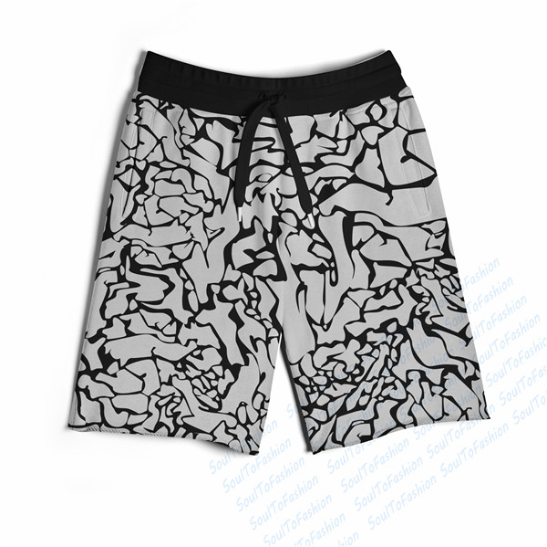 Real USA size Custom made MJ Flight 3D Sublimation Print Fifth & Seventh Shorts with String(China (Mainland))