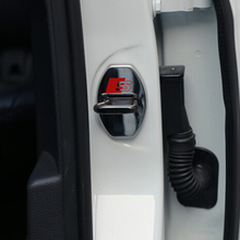 Buy Door lock buckle cover car styling Audi series Q3 Q5 SQ5 Q7 A1 A3 S3 A4 A4L A6L A7 S6 S7 A8 S4 RS4 A5 S5 RS5 8T 8R for $2.84 in AliExpress store