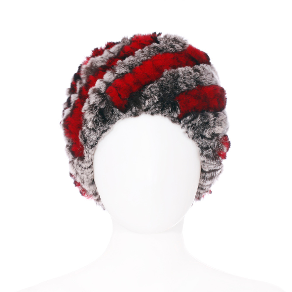 Russia's hat Women Winter Fur Hats High Quality Natural Rex Rabbit Fur Beanie Wholesale Retail Winter Rabbit Fur Hats QD30454(China (Mainland))
