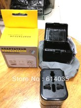 993  Travel Adaptor/Plug Converter in Black *CE Marked(China (Mainland))