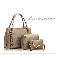 Fashion Women Bag PU Leather Handbag Women's Messenger Bags Ladies Handbags Bags Handbag+Messenger Bag+Purse 3 Sets Sac