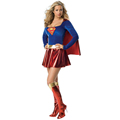 New Arrival 2017 Supergirl Costume Women Superhero Cosplay Adult Sexy Fancy Dress Superman Costume Women Cosplay