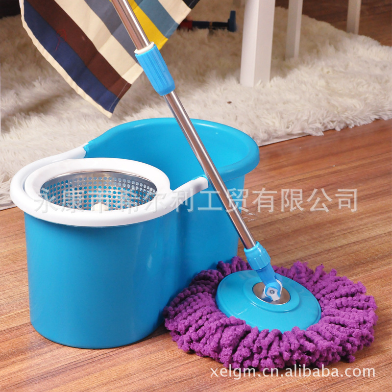 YoHere living home clean tool dual-drive rotary mop stainless steel rotary drag cleaning bucket and mop set(China (Mainland))