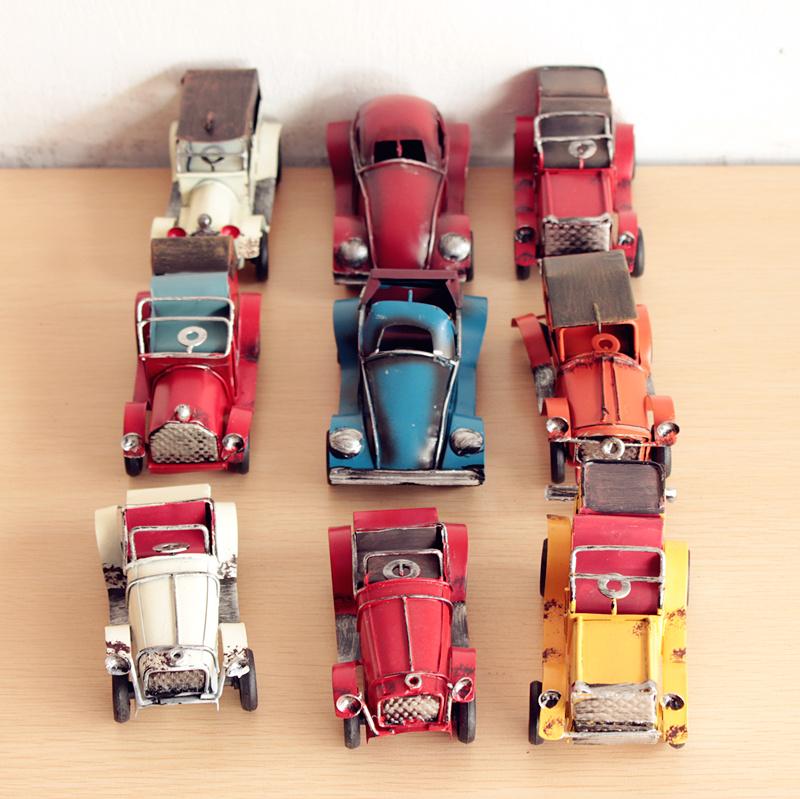 Free Shipping New 2015 Zakka Vintage Metal Mini Cars Model Vintage Metal Car Moldel(China (Mainland))