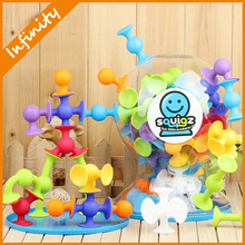 2015 New Products educational toys Suction cup squigz toy creative assembly nut toys Silicon likes Squigz Starter Set 36 Pcs(China (Mainland))