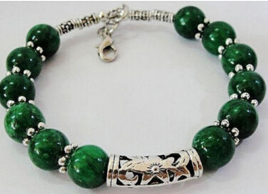 xd 00991 Details about Beautiful handmade the Tibet silver green jade bracelet 7.5 ~ 8 inches 5.6(China (Mainland))