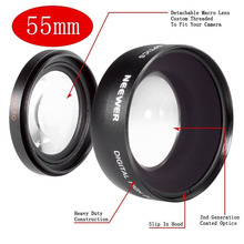 NEEWER Digital 55mm Macro Wide Angle Lens 0.45X High Definition For Sony DSLR A230 A350 A300 A330 A500 A700 A900 with Lens Bag (China (Mainland))