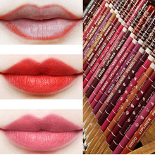 Cosmetic Professional Lipliner Pencil Waterproof Wooden Blend Lip Liner Pencil 15CM 4 Colors Makeup Lipstick Tool maquiagem(China (Mainland))