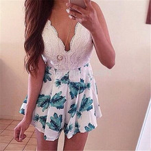 summer dress vestidos 2016new sexy fashion camisole backless Lace printing mini women dresses maxi vestido - han die zi Store store