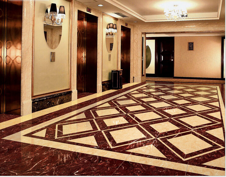 Purple Luo Full cast glazed tile hotel office engineering brick ceramic floor tiles waterproof slip(China (Mainland))