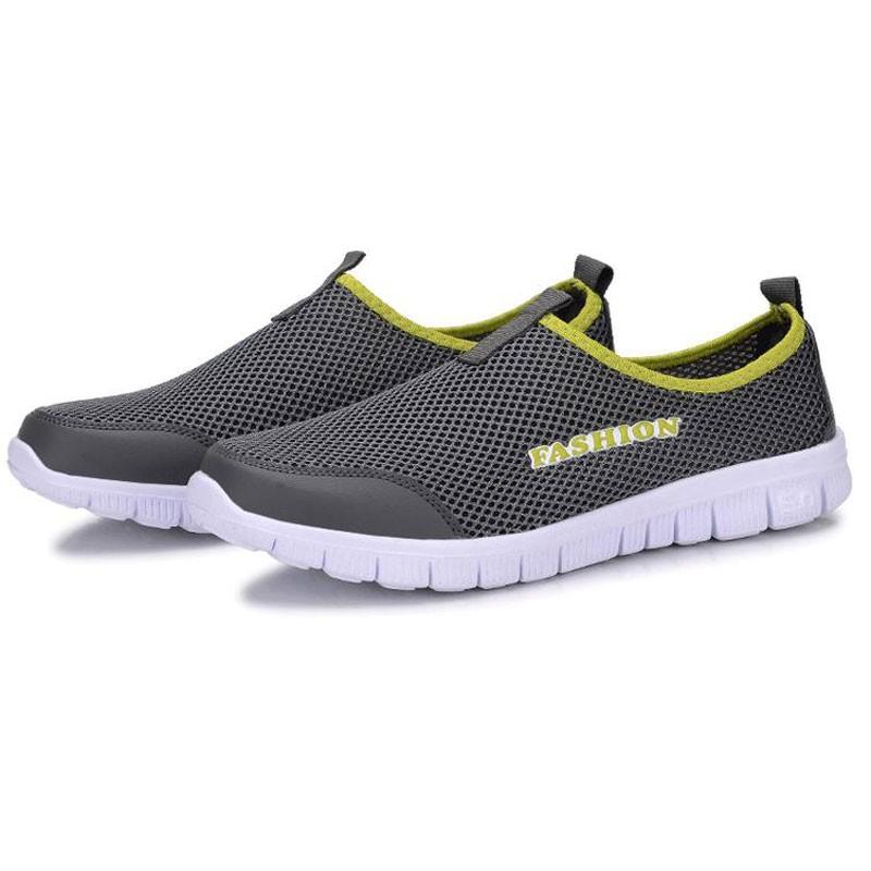 Мужчины Повседневная Обувь 2016 Новое Прибытие мужская Мода Твердые Дышащий Ленивый Обувь Мужчины Плюс Размер 39-46 Slip-на Сетевые Обувь MXR042